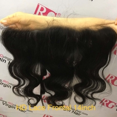 HD Lace Frontal Body wave Swiss Lace Virgin Hair Frontal 14inch