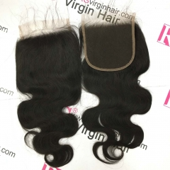 Body Wave HD Lace Closure 5x5inch Swiss Lace Virgin Hair 14inch 1 piece