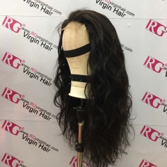 20inch Closure Unit Made with 3 bundles brazilian Hair Body wave Natural color Closure Wig