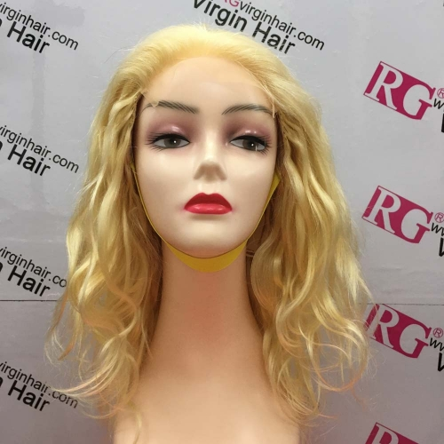 12inch 5x5 Closure unit 613 Blonde Human Hair Body Wave Closure Wig made with 2 bundles