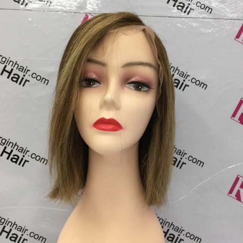 RGW077 Model P4/27 Colored Human Hair Wig 13x4 Lace frontal bob wig 10inch