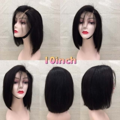 Side Part 4x4 Lace Closure Bob Wig 10inch Human Hair Wig in Wholesale Price