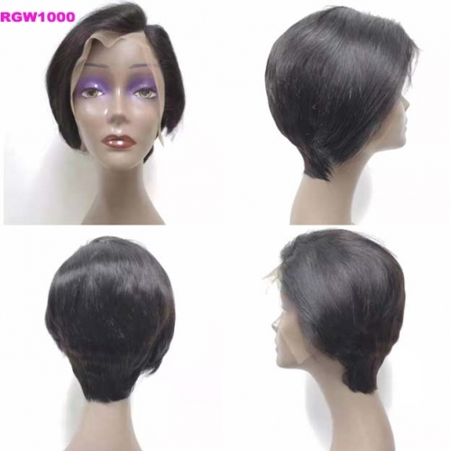 Lace Front Wig Human Hair Wig Model RGW1000 Side Part Wig RG Virgin Hair