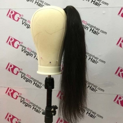 brazilian straight ponytail 100% Human Hair Made with 1 bundle hair Wholesale Ponytail