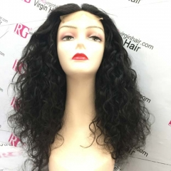 Water wave Closure unit made with 3 bundles 16inch Fuller wig 4x4 closure wig Natural Color