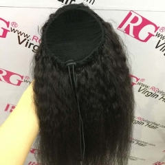 Kinky Straight Ponytail 100% Human Hair Ponytail Natural Color 12-20inch Wholesale Hair Ponytail