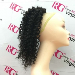 Curly Ponytail Brazilian Virgin Hair Ponytail made with 1 Bundle Hair Natural Color