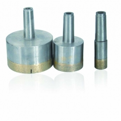 Diamond core drill, sintered cone shank diamond drill bit for glass