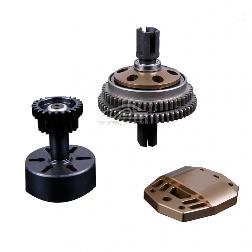Alloy 2 Speed Gear System Titanium for Losi 5ive T