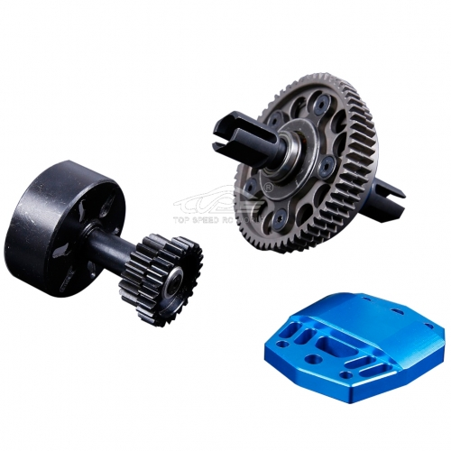 Alloy 2 Speed Gear System Blue for Losi 5ive T