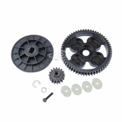 1/5 rc car racing parts,58T/16T High Torque Metal Gear Set fit HPI Rovan Baja 5B