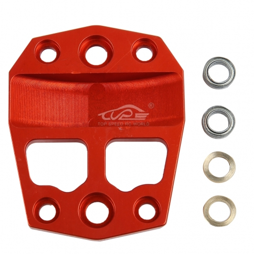 Metal center differential gear cover Orange Red for Losi 5ive T