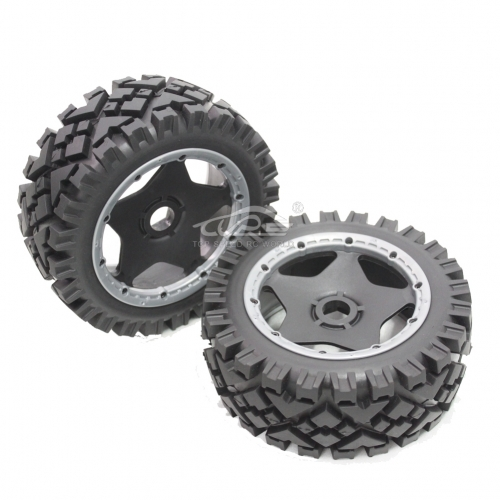 Front All-terrian Wheel tire set fit 1/5 RC Buggy HPI BAJA RV KM 5B