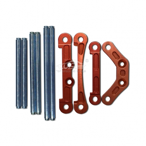 Alloy CNC Front and Rear brace Orange Red and Hinge Pins for 1/5 RC Baja 5B
