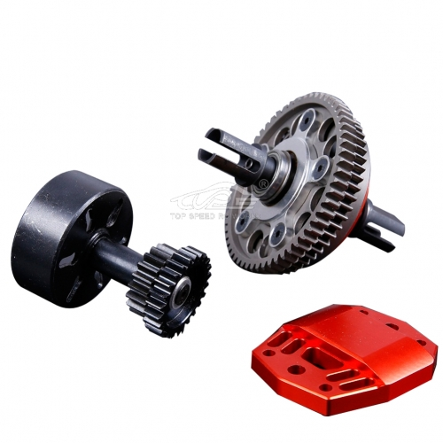 Alloy 2 Speed Gear System Orange Red for Losi 5ive T