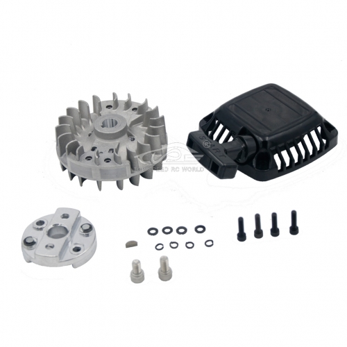 TSRC Pull Starter with flywheel Upgrade easy starter Fit 1/5 HPI Baja 5B 5T 5SC