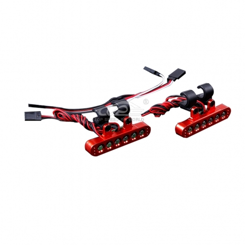 Alloy CNC bracket With LED lights of Taillight kit Red for Losi 5ive T