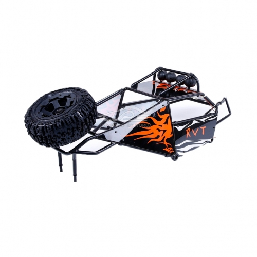Alloy Roll cage kit/Plastic Orange image windows with lamp for Hpi Baja 5T 5SC