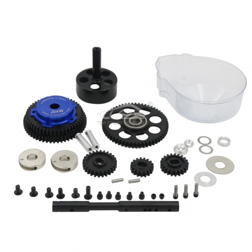 3 Speed Transmission Kit with alloy red cover for HPI Rovan Baja Buggy 5B KM