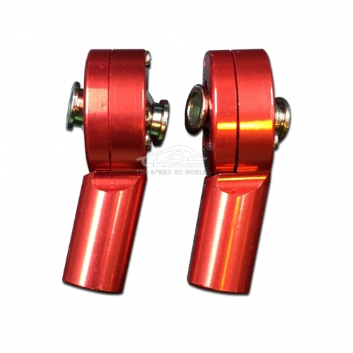 TOP SPEED RC WORLD Alloy Rear Rod End Reddish Orange for 1/5 RC Hpi Baja RV KM 5B