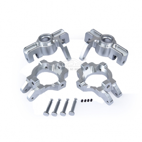 Alloy Front Hub kit Silver fit Losi 5ive T