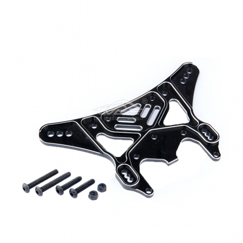 Alloy 8MM Rear shock absorber bracket Black fit Losi 5ive T