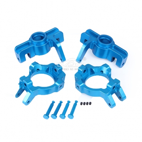 Alloy Front Hub kit Blue fit Losi 5ive T