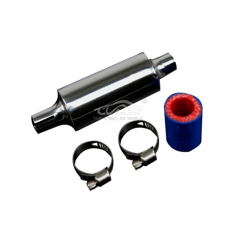 Alloy Silencer Muffler pipe kit for 1/5 RC HPI Baja 5B 5T 5SC Losi 5ive T