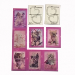 3D Lenticular Collection Cards