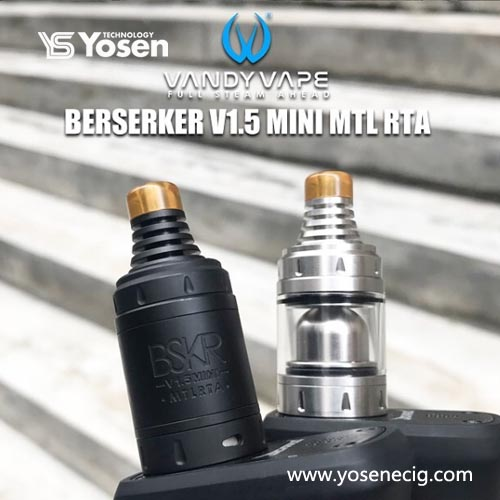 Vandy Vape Berserker V1.5 Mini MTL RTA Styled 22mm Rebuildable Tank Atomizer