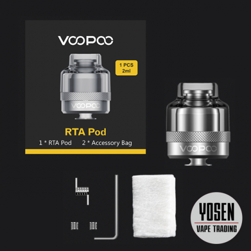 Voopoo RTA Pod 2ML Rebuildalbe DIY Vaping Cartridge