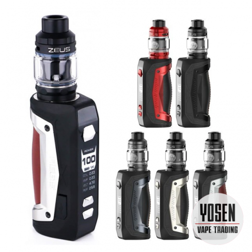 Geekvape Aegis Max 100W Single 18650 / 21700 Vape Starter Kit With Zeus Subohm Tank