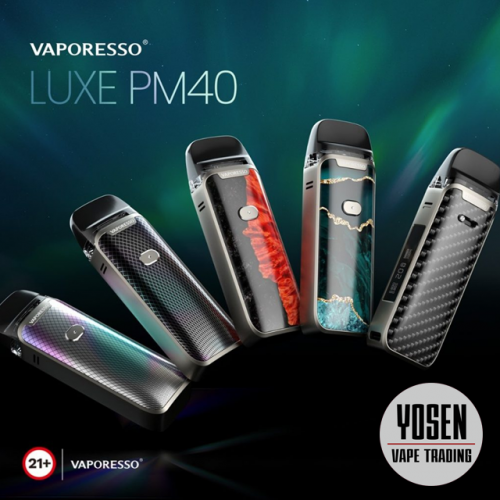 Vaporesso Luxe PM40 40W VW Pod Mod Kit with 1800mAh Long-Life Battery