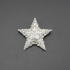 fashion star clear crystal alloy pin brooch for wedding gift , party