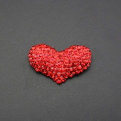red love heart crystal alloy pin brooch for wedding gift , party