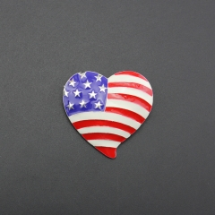 America flag love heart enemal alloy pin brooch for gift , party