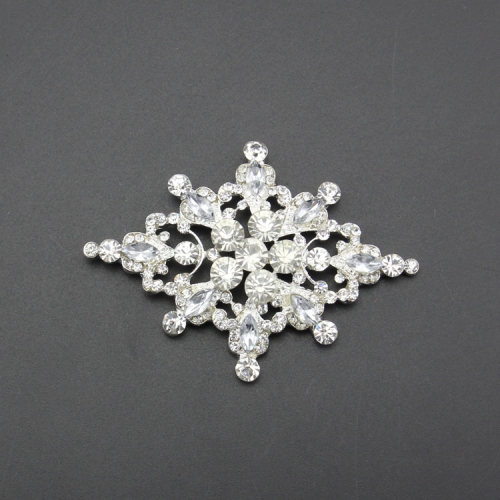 High quality snowflake shape of rhinestone button