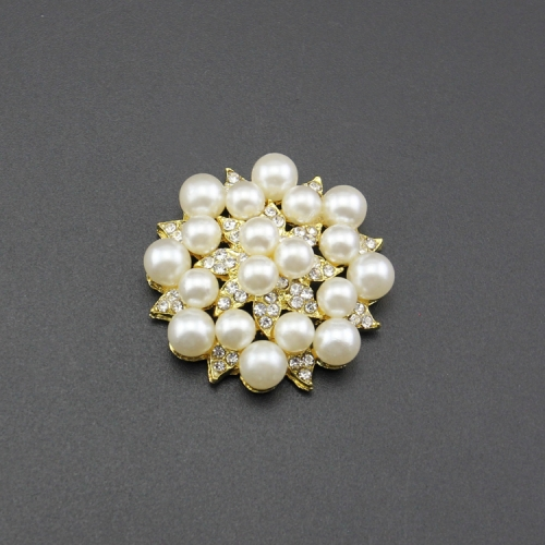 Wholesale custom pearl rhinestone button