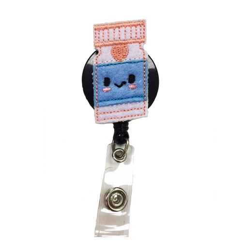 Free Shipping New Design Cute Bottle Medical Nurse Felt ID Badge Reel