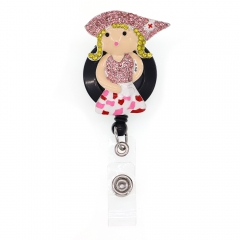 Beauty In Nurse Outfit ID Badge Reel