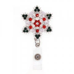 Christmas Snowflake ID Badge Reel