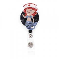 Mermaid Nurse ID Badge Reel