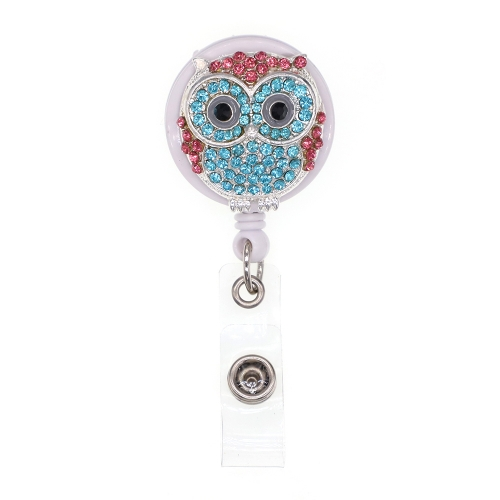Sea Blue Owl ID Badge Reel