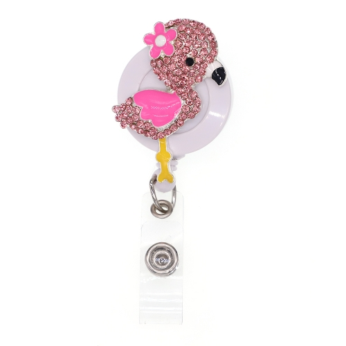 Pink Flamingos ID Badge Reel
