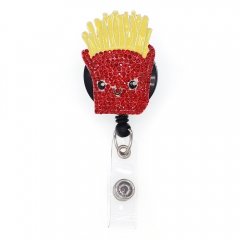 French Fries ID Badge Reel