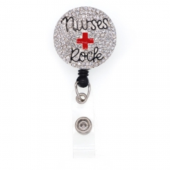 Red Cross ID Badge Reel