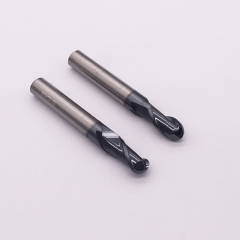 Solid carbide ball end mill