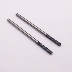 Extra long carbide flat end mill