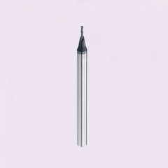 Miniature 2 flute carbide square end mill