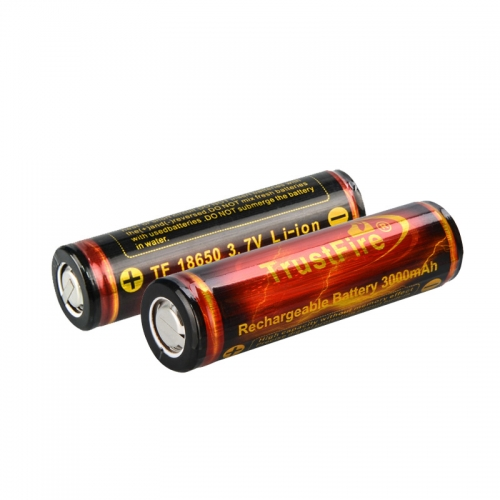 TrustFire 18650 3000mAh Li-ion Recharbeable Protected Battery (2PCS)